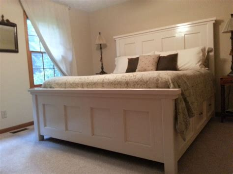 ana white farmhouse headboard king farm house bed do it yourself home projects from