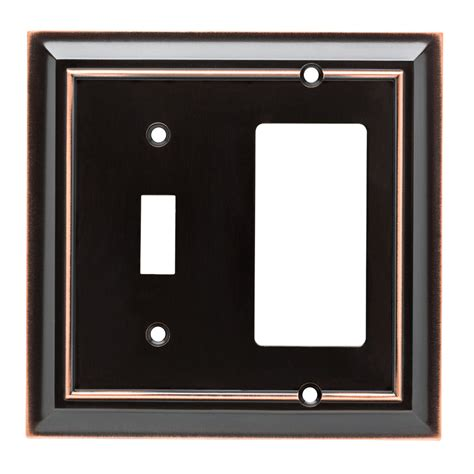 Shop Brainerd Architectural 2 Gang Delta Oil Rubbed Bronze Decorator Wall Plates