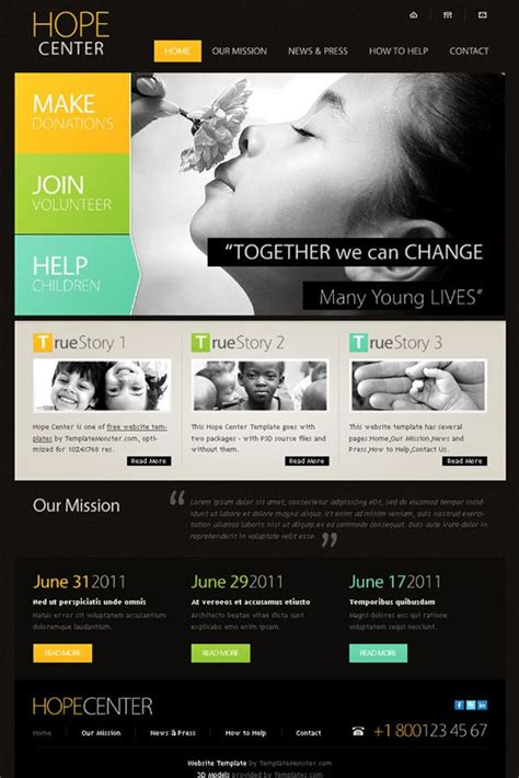 15 Best Free Charity Templates Charity Website I Like Pinterest Template Flash Templates Charity Website Design Templates