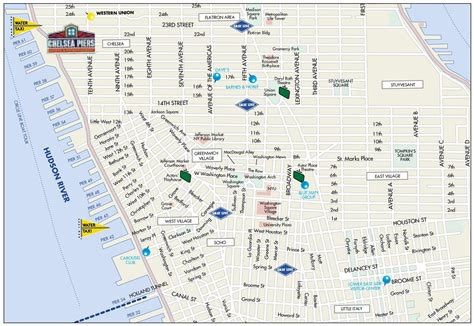 map of new york villages map of greenwich chelsea soho and italy
