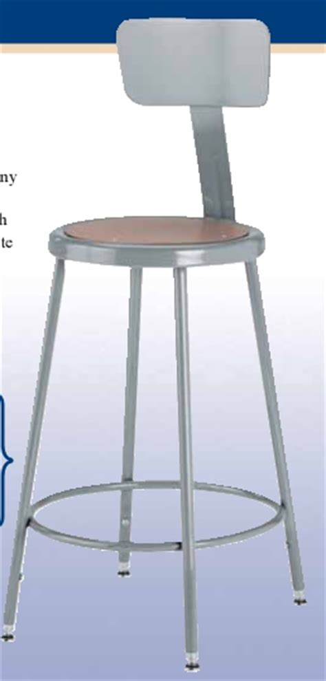 18 High Stool by Diversified Woodcrafts Steel Stool W Backrest 18 Quot High