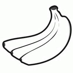 banana coloring page simple and easy fruit food banana coloring sheet to print