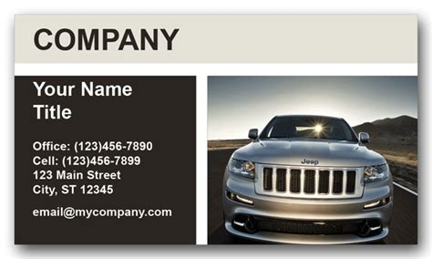 jeep card jeep business cards