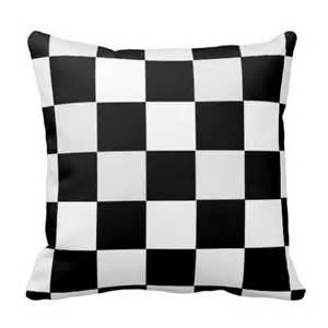 black and white checkered throw pillow zazzle