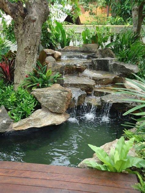 backyard pond ideas with waterfall graceful backyard waterfall ideas pinterest
