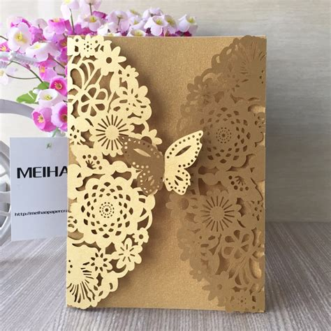 Lace Buterfly Hitam popular vintage wedding invitations buy cheap vintage wedding invitations lots from china