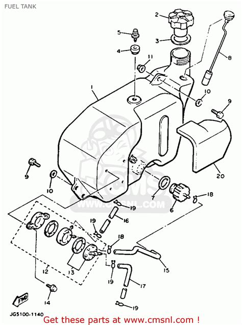 yamaha g9 golf cart parts diagram yamaha g9 ah golf buggy 1992 fuel tank schematic partsfiche