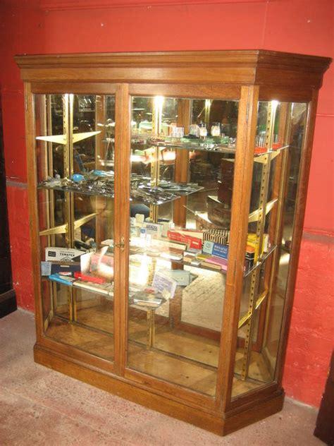 Mahogany Mirror Backed Shop Display Cabinet Antiques Atlas
