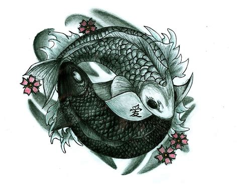 yin yang koi fish tattoo quot koi fish yin and yang quot by chloeosity redbubble