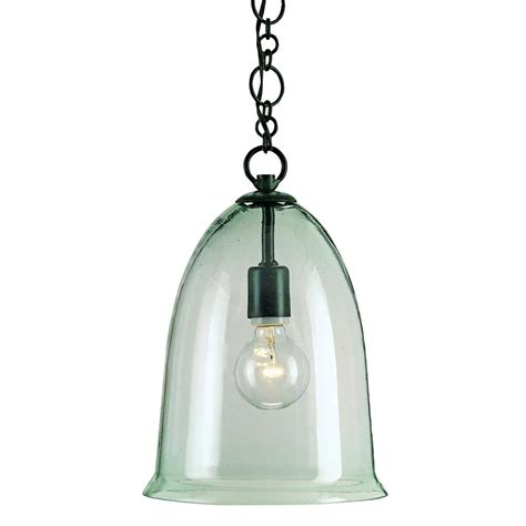 Hector Recycled Glass Industrial Rustic Bell Pendant L Recycled Glass Pendant Light