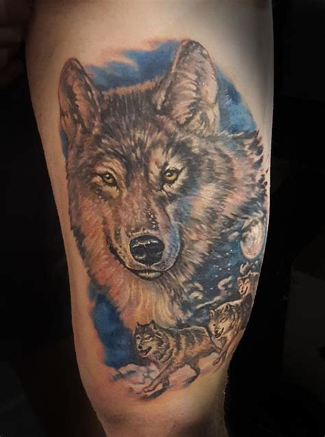 wolf pack tattoo wolf pack by mike ledoux tattoonow