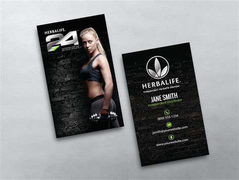 herbalife business cards templates herbalife business card 12