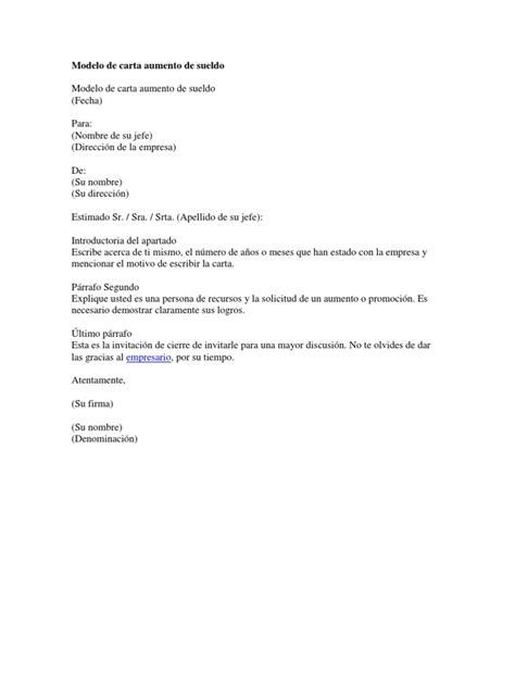 formato modelo ejemplo solicitud de adelanto de scribd modelo de carta aumento de sueldo