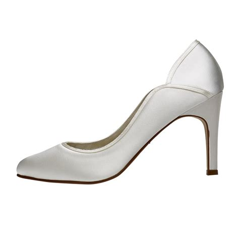 Rainbow Schuhe Ivory by Rainbow Club Ivory Satin Court Shoes Shoes Co Uk