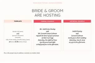 sle wedding invitations wording casual wedding invitation wording and groom hosting infoinvitation co