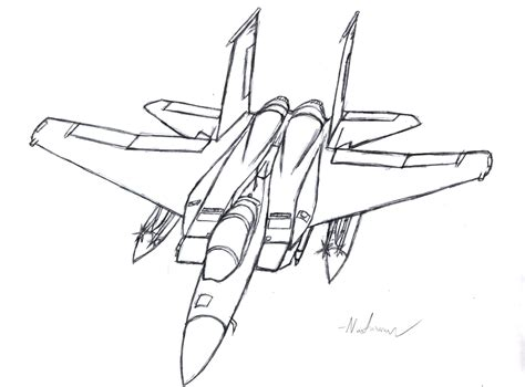 F Drawing Design by F 15 Eagle Sketch By Kravinmorhead On Deviantart