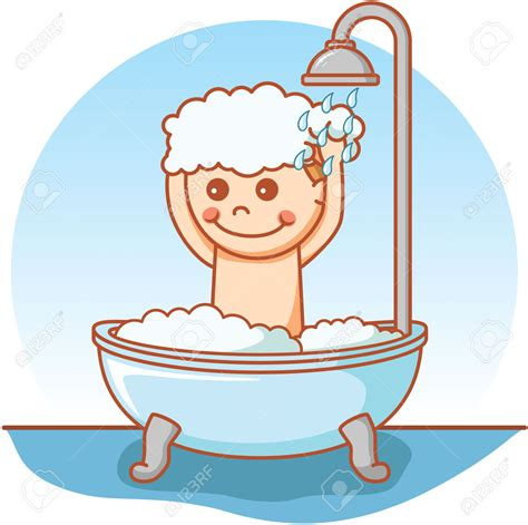 bathing shower shower clipart bathing pencil and in color shower
