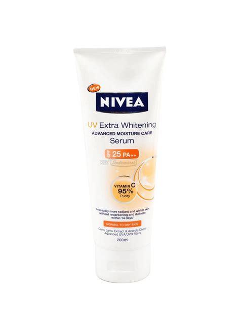 Wajah Nivea Uv Whitening nivea serum uv whitening tub 180ml klikindomaret