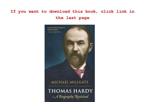 biography ebook pdf thomas hardy a biography revisited michael millgate