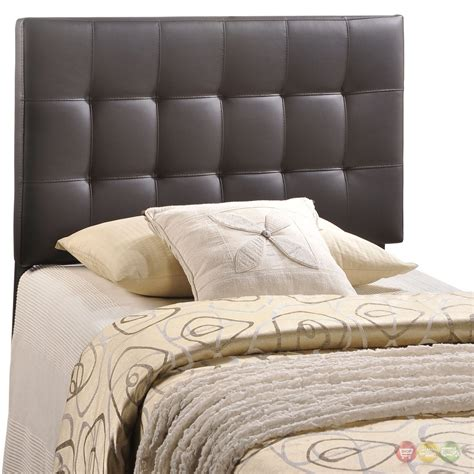 tufted twin headboard lily contemporary vinyl button tufted twin headboard brown