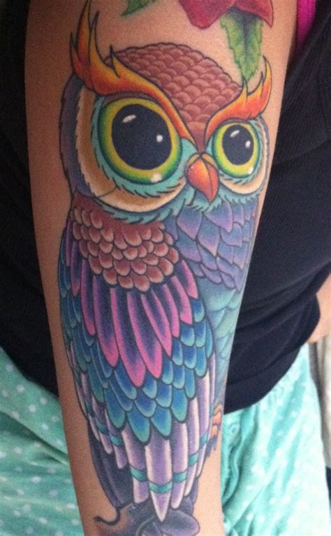 owl arm tattoo owl arm idea tattoos
