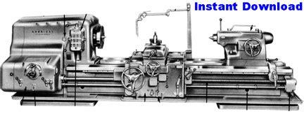 American Tool Lathe Manuals