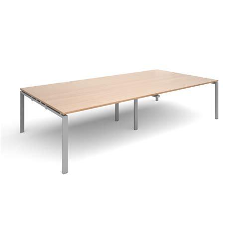 Beech Boardroom Table Adapt Ii Boardroom Table 3200x1600mm Silver Beech Www Mantonoffice Co Uk Furniture Workplace
