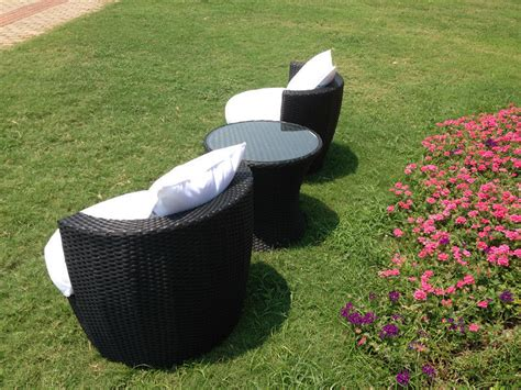 rattan effect egg patio furniture set rattan effect