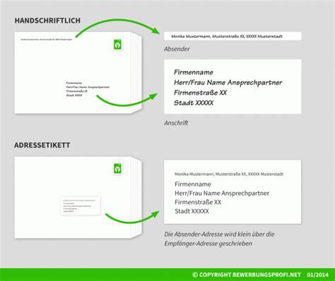 Anschrift Brief Schweiz Herr Und Frau Umschlag Beschriften Und Versenden Bewerbungsprofi Net