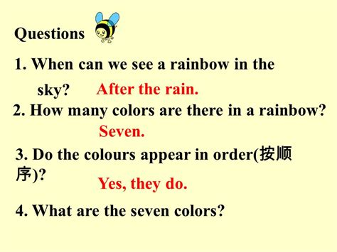 how many colors are there in a rainbow welcome to the unit and comic ppt
