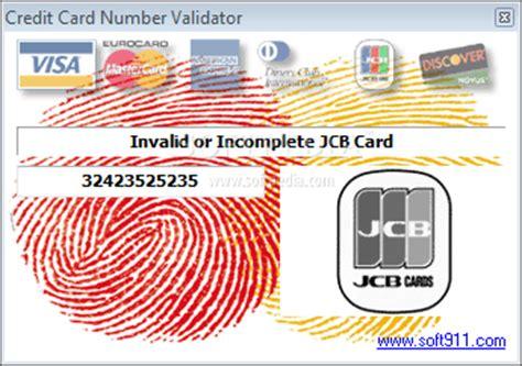 Credit Card Validation Formula Credit Card Number Validator