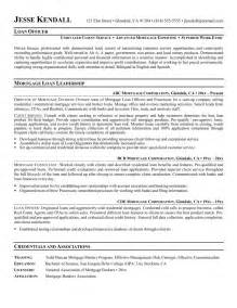 mortgage loan officer resume sle loan officer sle resumes jianbochen