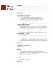 executive assistant resume template from docs