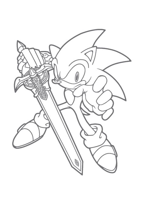 free coloring pages of hedgehog from sonic x