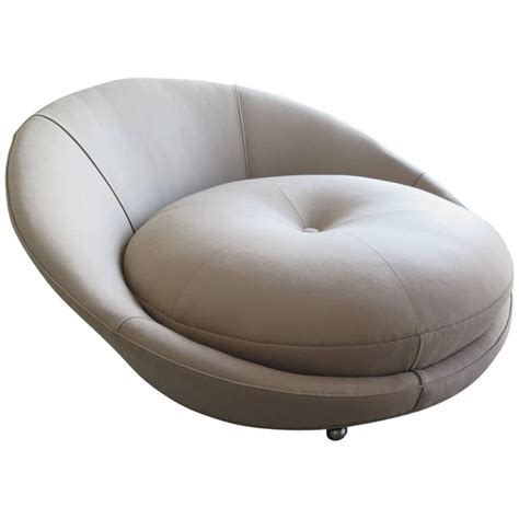 big round sofa chair large round lounge chair by milo baughman at 1stdibs