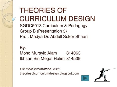 theory of layout theories of curriculum design