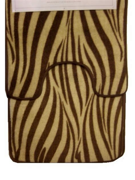 zebra bath rugs brown zebra stripe bath mat contour rug