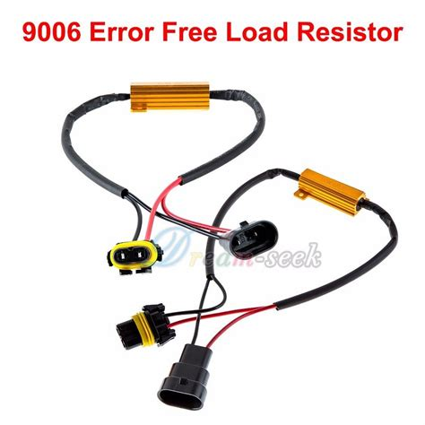 resistor for led signal lights 2x 9006 hb4 50w 6ohm load resistor led drl fog turn signal light hyper blink ebay