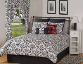 Full Size Black And White Comforter Sets 4pc Astor Black And White Medallion Damask Full Size