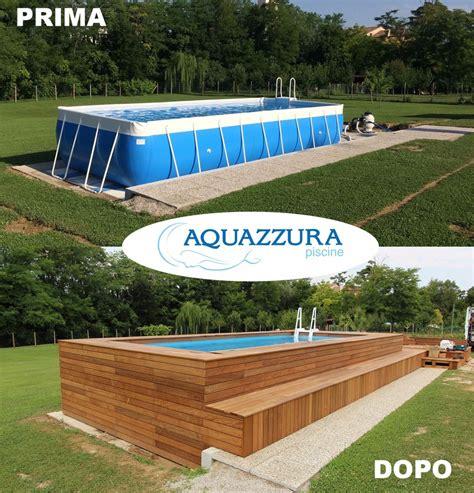 piscine fuori terra rivestite in legno piscine rivestite in legno
