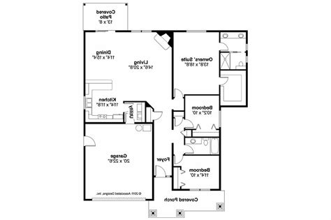 Fllor Plans Craftsman House Plans Logan 30 720 Associated Designs