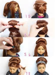 retro bouffant bun american doll hairstyle american