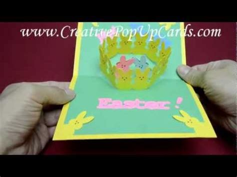 pop up easter card template free easter pop up card bunny peeps