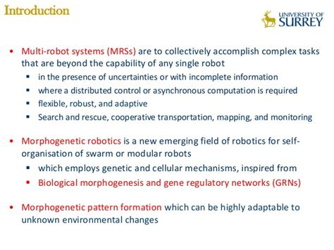 pattern formation by robots morphogenetic multi robot pattern formation using