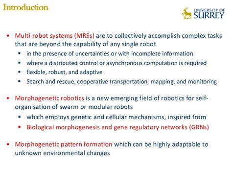 pattern formation morphogenesis morphogenetic multi robot pattern formation using