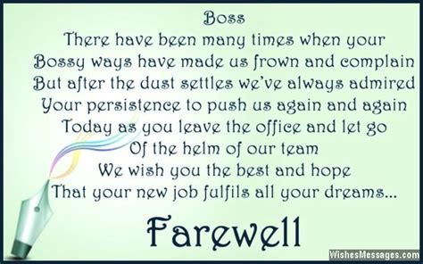 Farewell Messages For Boss Goodbye Quotes For Boss Wishesmessages Com Farewell Presentation Ideas