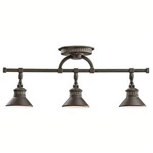 Bronze Landscape Lighting Shop Kichler Sayre 3 Light 24 In Olde Bronze Fixed Track Light Kit At Lowes