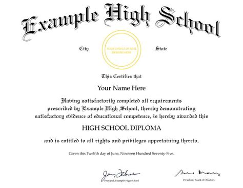 high school diploma certificate template high school diploma template images