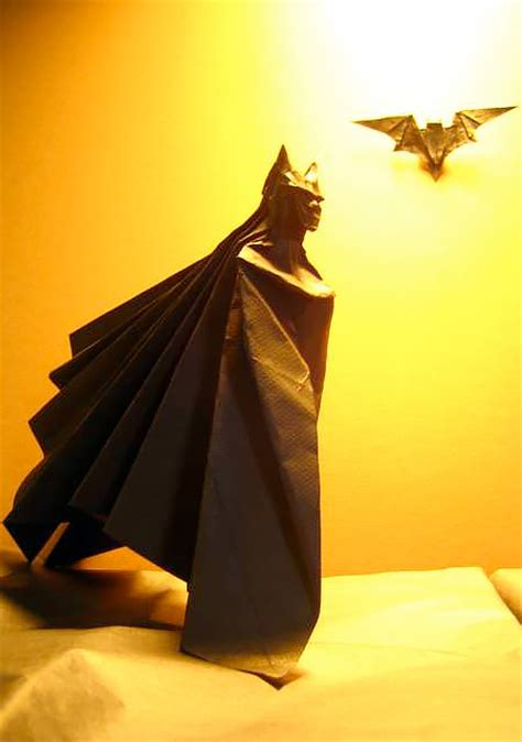 How To Make A Paper Batman - batman origami