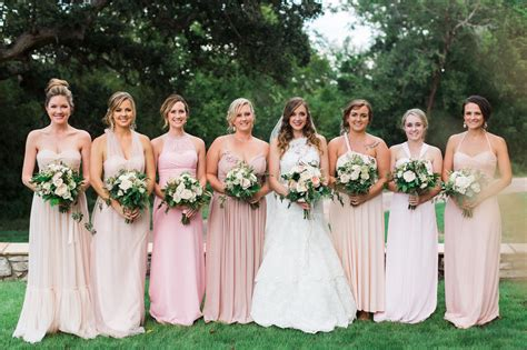 Na Mix Dress bridesmaids in mix and match dresses in shades of